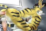 anal balls bed butt cum cum_in_ass cum_inside erection feline male male/male mammal nude orgasm penis presenting presenting_hindquarters simple_background tiger xsrwe12  Rating: Explicit Score: 3 User: drafan5 Date: May 06, 2016