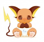 ambiguous_gender azumarill baby chibi cub cute diaper feral marill nintendo pokémon raichu schnecken simple_background sitting solo tongue tongue_out video_games white_background young