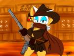 2013 anthro bat big_breasts breasts cleavage clothed clothing english_text female gun huge_breasts mammal ranged_weapon rifle rouge_the_bat sega solo sonic_(series) supersonicrulaa text weapon   Rating: Questionable  Score: 2  User: Robinebra  Date: January 11, 2015