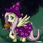 cape clothing costume equine female feral fluttershy_(mlp) friendship_is_magic halloween hat holidays john_joseco mammal my_little_pony pegasus solo trick_or_treat wings  Rating: Safe Score: 4 User: Robinebra Date: July 08, 2013