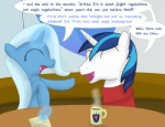 blue_hair dialog duo english_text equine eyes_closed female feral friendship_is_magic hair horn horse humor laugh magic male my_little_pony pony shining_armor_(mlp) story text trixie_(mlp) unicorn   Rating: Safe  Score: 7  User: xes  Date: April 18, 2012