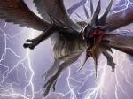 crest dragon feathered_wings feathers fling frills jaime_jones kolaghan lightning magic_the_gathering multiple_wings official_art open_mouth scalie solo wings   Rating: Safe  Score: 5  User: Circeus  Date: April 01, 2015