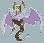 aerodactyl anthro clothed clothing gijinka half-dressed male nintendo pokémon reptile scalie solo topless video_games wings  Rating: Safe Score: 0 User: zyxmscl Date: December 29, 2014