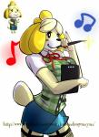 animal_crossing anthro canine clothing demondragoncyan dog female garter_straps hi_res isabelle_(animal_crossing) mammal nintendo skirt solo sweater_vest video_games  Rating: Safe Score: 6 User: WhiteWhiskey Date: September 19, 2015