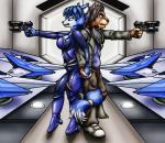 2017 absurd_res anthro canine duo feline female fox gun hand_holding happyanthro hi_res krystal leonidas_almasi lion male mammal nintendo ranged_weapon star_fox video_games weaponRating: SafeScore: 2User: RobinebraDate: May 25, 2017