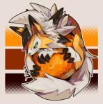 2017 ambiguous_gender canid canine dusk_lycanroc food fruit fur green_eyes hi_res jia lycanroc mammal nintendo orange_(fruit) orange_fur orange_theme plant pokémon pokémon_(species) smile solo video_gamesRating: SafeScore: 25User: LoupMouneDate: August 08, 2017