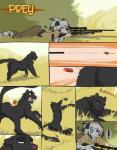 2015 anthro balls breasts butt clothed clothing comic feline female feral gun hair hunter male mammal panther prey ranged_weapon rifle viktria weapon  Rating: Explicit Score: 30 User: The_Shadow_of_Light Date: August 03, 2015