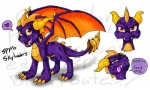 claws cute dragon horn looking_at_viewer male open_mouth purple_body red_eyes scalie shalonesk simple_background smile solo spyro spyro_the_dragon teeth tongue tongue_out video_games white_background wings  Rating: Safe Score: 3 User: Vergil.exe Date: February 25, 2015