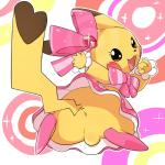 2015 5_fingers abstract_background anus backsack balls black_eyes black_nose blush bow brown_markings butt cleft_tail clothed clothing cosplay_pikachu crossgender cute cute_clothing cute_eyes digital_media_(artwork) dress ear_markings eyelashes facial_markings feral fingers footwear fully_clothed fur gem girly hair_bow hair_ribbon looking_at_viewer looking_back lying male mammal manmosu_marimo markings nintendo on_front open_mouth open_smile pikachu pikachu_pop_star pink_bottomwear pink_footwear pink_shoes pink_skirt pink_topwear pokémon pokémon_(species) presenting presenting_anus presenting_hindquarters ribbons rodent semi-anthro shoes simple_background skirt smile solo tail_markings two_tone_tail video_games yellow_balls yellow_fur yellow_tailRating: ExplicitScore: 35User: NeitsukeDate: July 17, 2015