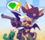 2014 ? anthro bat big_breasts breasts cactuar cleavage clothed clothing cosplay cowboy_hat cowgirl crossover duo erect_nipples female final_fantasy green_eyes gun hair hat holding holding_weapon humanoid lasso mammal monster nancher nipples ranged_weapon rope rouge_the_bat sega smile sonic_(series) video_games weapon western white_hair wings   Rating: Questionable  Score: 10  User: Robinebra  Date: February 04, 2014