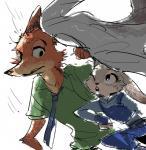 2016 anthro canine disney duo female fox judy_hopps lagomorph male mammal nick_wilde rabbit zootopia おにく食べ太郎  Rating: Safe Score: 2 User: Vallizo Date: April 30, 2016