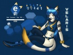 anthro azrafox blue_theme breasts cat clothed clothing contest e621 feline female futuristic hexagons mammal mascot mascot_contest skimpy solo unknown_artist velaris yellow_eyes  Rating: Safe Score: 13 User: Azrafox Date: February 26, 2010