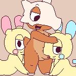"""ambiguous_gender anal animated ball_fondling balls blush cubone cum cum_in_mouth cum_inside eyes_closed fondling group group_sex male minun nintendo oral orgasm penis plusle pokémon rimming sex spiral_eyes threesome uncut video_games watermelon_(artist)  Rating: Explicit Score: 58 User: T7 Date: July 03, 2015"""""""