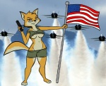 american_flag breasts canine eyewear female fox glasses gnollykins handgun jets lt._fox_vixen lt._vixen squirrel_and_hedgehog weapon   Rating: Questionable  Score: 11  User: APimpFromBuffalo  Date: March 14, 2013