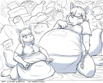 anthro breasts canine clothing comic faf fafcomics female fox greyscale hetty mammal monochrome morbidly_obese overweight solo  Rating: Safe Score: 11 User: GameManiac Date: March 05, 2015