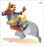 anthro baloo bear black_nose boots bottomless brown_nose canine character_from_animated_television_series chubby clenched_teeth clothed clothing disney don_karnage eyes_closed fight half-dressed male mammal open_mouth pants rpique sharp_teeth shirt talbaineric talespin teeth tongue wolf wrestling   Rating: Safe  Score: 3  User: toboe  Date: April 07, 2013