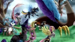 16:9 2012 antlers applejack_(mlp) armor blue_eyes blue_fur clothed clothing cloud discord_(mlp) draconequus earth_pony equine feathered_wings feathers female feral fluttershy_(mlp) friendship_is_magic fur group hair hi_res horn horse levitation magic male mammal membranous_wings multicolored_hair my_little_pony outside panties parody pegasus pink_hair pinkie_pie_(mlp) pony purple_eyes purple_fur purple_hair radicalmori rainbow_dash_(mlp) rainbow_hair rarity_(mlp) red_eyes sky twilight_sparkle_(mlp) two_tone_hair underwear unicorn wings  Rating: Safe Score: 10 User: masterwave Date: November 14, 2012