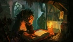 anthro book candle canine clothed clothing detailed_background fangs female hair mammal reading solo spikie_(artist) video_games warcraft were werewolf worgen  Rating: Safe Score: 11 User: Arkin Date: October 26, 2015