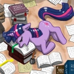 bird's-eye_view book cutie_mark equine exhausted eye_of_providence female feral food friendship_is_magic high-angle_shot horn ink inside john_joseco lonely long_day_at_work mammal muffin my_little_pony nude pen quill_pen sleeping solo studying tired twilight_sparkle_(mlp) unicorn   Rating: Safe  Score: 6  User: Robinebra  Date: July 08, 2013