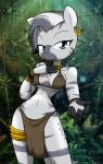 2014 anthro big_breasts breasts clothed clothing equine female friendship_is_magic looking_at_viewer mammal my_little_pony sandwich-anomaly skimpy smile solo theoretical-chaos zebra zecora_(mlp)   Rating: Safe  Score: 30  User: Robinebra  Date: November 22, 2014