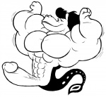 aaron_(undertale) abs anthro biceps big_muscles big_penis equine fish hair horse humanoid_penis hybrid hyper hyper_muscles hyper_penis long_hair male mammal marine monochrome muscular pecs penis rubberskunktoo simple_background solo undertale white_background  Rating: Explicit Score: 0 User: Tealmarket Date: October 05, 2015