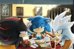 anthro black_nose clothing food gloves group hedgehog male mammal shadow_the_hedgehog silver_the_hedgehog sonic_(series) sonic_the_hedgehog tetora video_games  Rating: Safe Score: 1 User: Cαnε751 Date: December 05, 2015