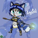 3_toes anthro black_nose blue_fur blue_hair bracers canine female fox fur gem green_eyes hair headband jewelry krystal mammal markings navel necklace nintendo polearm sandals short_hair shoulder_pads signature solo staff star_fox toes tribal video_games weapon white_fur xxgaby23xx   Rating: Safe  Score: 1  User: Cαnε751  Date: March 11, 2015