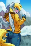 2016 anthro anthrofied blonde_hair blush butt clothed clothing derp_eyes derpy_hooves_(mlp) equine feathered_wings feathers female friendship_is_magic grey_feathers hair mammal my_little_pony pegasus snow solo wings yellow_eyes zwitterkitsune  Rating: Safe Score: 19 User: 2DUK Date: March 14, 2016