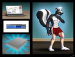 anthro bulge clothing computer hand_on_penis hyper hyper_penis laptop male mammal masturbation nisharu penis shorts skunk socks surprise transformation what_has_science_done   Rating: Explicit  Score: 1  User: Alex456po  Date: April 18, 2015