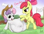 apple_bloom_(mlp) augustbebel earth_pony equine female friendship_is_magic horn horse mammal my_little_pony pony sweetie_belle_(mlp) unicorn vore  Rating: Safe Score: 0 User: Mcnair32 Date: October 05, 2015