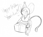 anthro big_breasts birthday_gift breasts denizen1414 english_text female girlfriend hair huge_breasts mammal mouse oppai_loli plain_background rodent short_hair text white_background young yumi  Rating: Safe Score: 1 User: TheAmariaShadow Date: January 14, 2013""