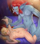 balls blood_elf blush breasts cum cum_in_pussy cum_inside duo elf female green_eyes hi_res humanoid interspecies lying male male/female nipples not_furry one_eye_closed orgasm penetration penis troll vaginal vaginal_penetration video_games warcraft yellowroom  Rating: Explicit Score: 12 User: Midnight_Daydream Date: January 18, 2016