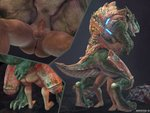 2020 3d_(artwork) 4:3 anthro anthro_penetrated anus armor averyhyena balls barefoot bodily_fluids butt cutaway death_by_snu_snu digital_media_(artwork) duo erection fangs feet female female_on_human female_penetrated genital_fluids genitals glowing grabbing human human_on_anthro human_penetrating human_penetrating_anthro humanoid_genitalia humanoid_penis humanoid_pussy interspecies larger_female larger_penetrated lizard male male/female male_on_anthro male_penetrating male_penetrating_female mammal penetration penis pussy pussy_juice quake rear_view reptile scalie sex size_difference small_dom_big_sub smaller_male sorlag source_filmmaker standing standing_sex vaginal vaginal_penetration video_games