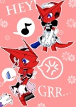 angry bandai blue_eyes blush claws crossdressing digimon duo embarrassed flower gloves grope maid maid_uniform male musical_note nana_dono opencanvas pink_background plain_background plant red_body ribbons shoutmon uniform   Rating: Safe  Score: 3  User: Test-Subject_217601  Date: December 15, 2011
