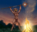 anthro bovine breasts cattle female fire hooves mammal minotaur night nipples nude pussy wiredhooves   Rating: Explicit  Score: 9  User: LostDragon01  Date: August 06, 2012