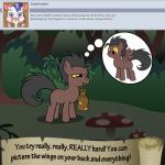 bitterplaguerat bush earth_pony equine forest horse loki_(bitterplaguerat) mammal mushroom my_little_pony pegasus pony solo text thinking thought_bubble tree wings yellow_eyesRating: SafeScore: 0User: Aryanne_HooflerDate: April 25, 2017