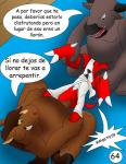 3_toes age_difference anthro blood claws color comic crying dialog digimon dragon equine eyes_closed forced gay guilmon hector21314 hi_res horn interspecies male mammal neck_bulge rape red_eyes reptile scalie shower spanish spanish_text tears text unconscious violence wet   Rating: Explicit  Score: 8  User: hector21314  Date: January 10, 2014