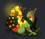 ambiguous_gender christmas digital_media_(artwork) electricity feral group haychel holidays mega_sceptile nintendo pikachu pokémon sceptile video_games   Rating: Safe  Score: 12  User: slyroon  Date: June 10, 2014