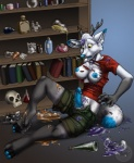 anthro breasts canine claws clothing dickgirl equine erection hooves horn hybrid intersex mammal nipples open_mouth penis potions sabretoothed_ermine shocked solo transformation  Rating: Explicit Score: 14 User: Rayne-Chan Date: April 13, 2016