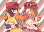 alternate_color angry back_tuft blue_eyes blush braixen brown_hair canine cream_fur cute cute_fang embrace eyewear female fox fur glasses group hair hat headwear hug human inner_ear_fluff male mammal maru_(pixiv) nintendo orange_eyes orange_fur orange_nose pattern_background pointy_ears pokémon purple_fur red_eyes red_fur red_nose serena shiny shiny_pokémon simple_background stick tears tree_branch video_games white_fur wood yellow_fur  Rating: Safe Score: 11 User: INEEDA_P Date: January 23, 2016