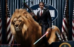 2012 arrow barack_obama bow_(weapon) crossbow edit feline flag flags human laser lightsaber lion male mammal necktie quiver ranged_weapon red_eyes riding scar sharpwriter shopped star_wars stars_and_stripes suit sword united_states_of_america weapon what where_is_your_god_now   Rating: Safe  Score: 15  User: Conker  Date: May 31, 2013