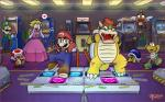 <3 ambiguous_gender anthro arcade blonde_hair blue_eyes bowser buzzy_beetle claws clothing dancing ddr donkey_kong_(series) double_dragon facial_hair female flying goomba group hair hat horn human ken koopa luigi male mammal mario mario_bros mustache nintendo pac-man_(series) princess_peach reptile royalty ryu scalie space_invaders standing street_fighter teeth text thebourgyman toad_(mario_bros) turtle video_games wings  Rating: Safe Score: 13 User: slyroon Date: September 28, 2015