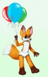 2013 anthro balloon blue_eyes canine cub cute diaper fox infantilism jamesfoxbr looking_at_viewer male mammal open_mouth paint smile solo young  Rating: Safe Score: 5 User: jamesfoxbr Date: May 14, 2013