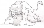 all_fours ass_up chris_mckinley disney duo feline feral feral_on_feral from_behind_position incest lion lying male male/male mammal monochrome mufasa on_front pencil_(artwork) scar_(the_lion_king) sex simple_background sketch the_lion_king traditional_media_(artwork) white_background  Rating: Explicit Score: 9 User: Vinea Date: December 18, 2015
