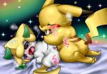 blush box_xod cute duo japanese_text jirachi legendary_pokémon male nintendo open_mouth penetration penis pikachu pokémon pussy text tongue tongue_out video_games  Rating: Explicit Score: 7 User: nightwolf000 Date: June 07, 2015
