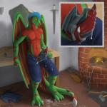 anthro blacksmith claws clothing cum dragon duo erection erna fire grinding hair muscles mushbun orgasm pecs penis scalie size_difference standing tango_zulu tools weapon wings wyvern yellow_eyes  Rating: Explicit Score: 10 User: Borisigor Date: June 25, 2015""