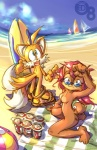 beach breasts butt canine edtropolis eyewear female fox male miles_prower sally_acorn sandals seaside sega sonic_(series) sunglasses surfboard   Rating: Questionable  Score: 0  User: Billycock  Date: December 19, 2009