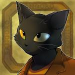 1:1 anthro black_fur black_nose blurred_background bust_portrait clothed clothing domestic_cat felid feline felis fur male mammal maririn outline portrait shirt solo topwear whiskers