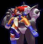 2013 anthro blue_eyes breasts chipmunk duo female hair is_(artist) machine mammal mechanical red_hair robot rodent sally_acorn sega sonic_(series) swat_bot   Rating: Questionable  Score: 10  User: Robinebra  Date: November 30, 2013