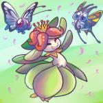 ambiguous_gender arthropod beautifly blue_eyes butterfly butterfree cute eyes_closed flora_fauna flower group insect lilligant nintendo open_mouth plant pokémon red_eyes tiara vaporotem video_games   Rating: Safe  Score: 1  User: DeltaFlame  Date: February 24, 2015